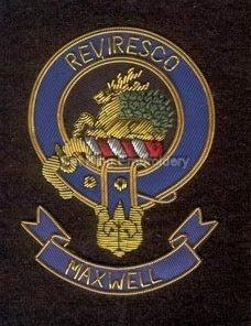 Maxwell clan crest badge - Reviresco