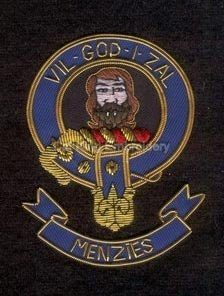 Menzies clan crest badge - Vil God i Zal clan