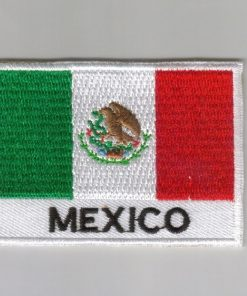 Mexico embroidered patches - country flag Mexico patches / iron on badges