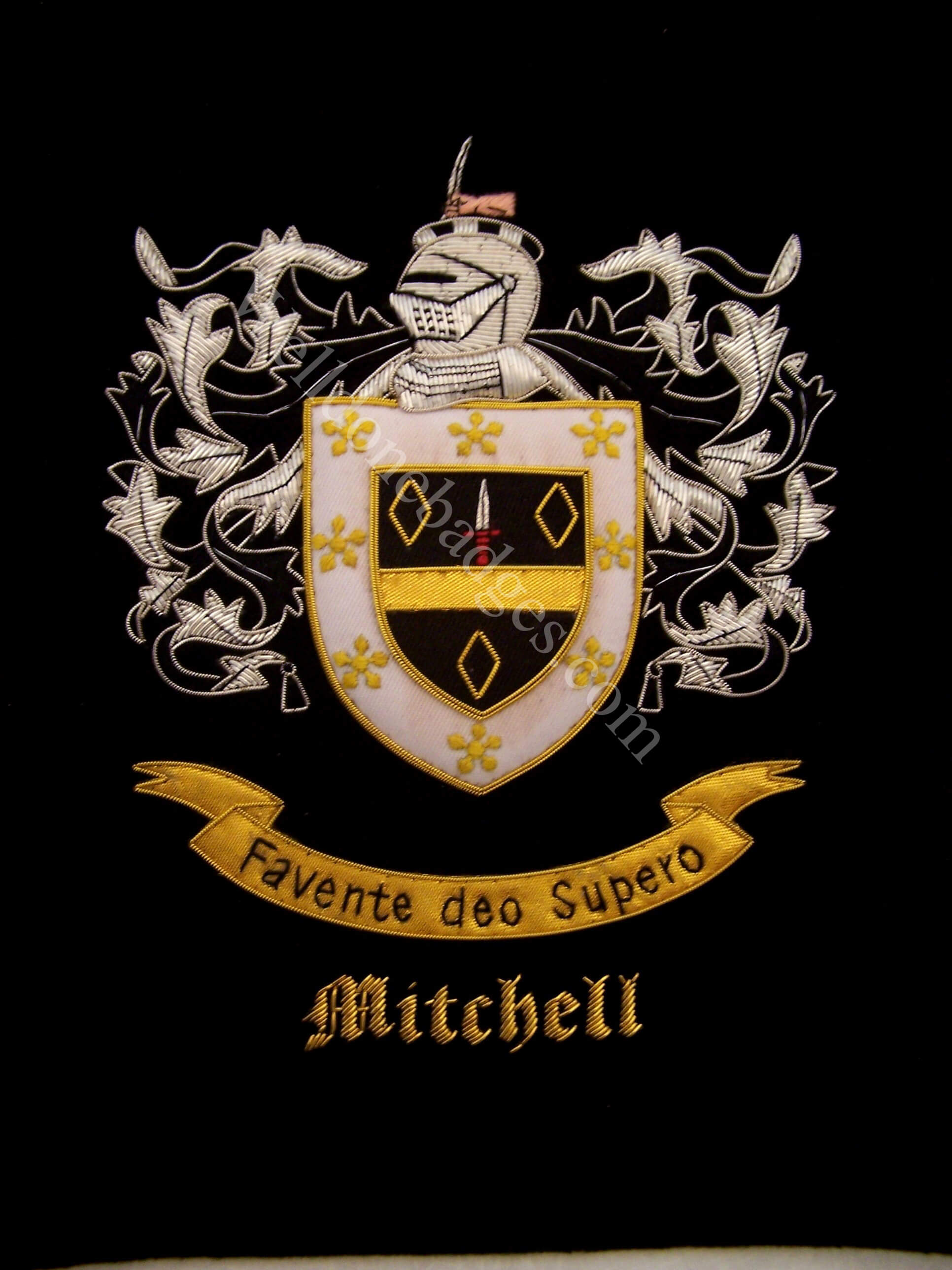 Embroidered family crests coat of arms custom order accepted mitchell family crest mitchell coat of arms biocorpaavc