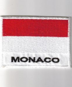 Monaco embroidered patches - country flag Monaco patches / iron on badges
