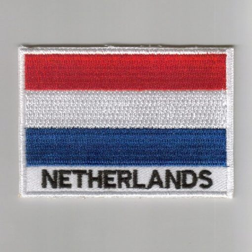 Netherlands embroidered patches - country flag Netherlands patches / iron on badges