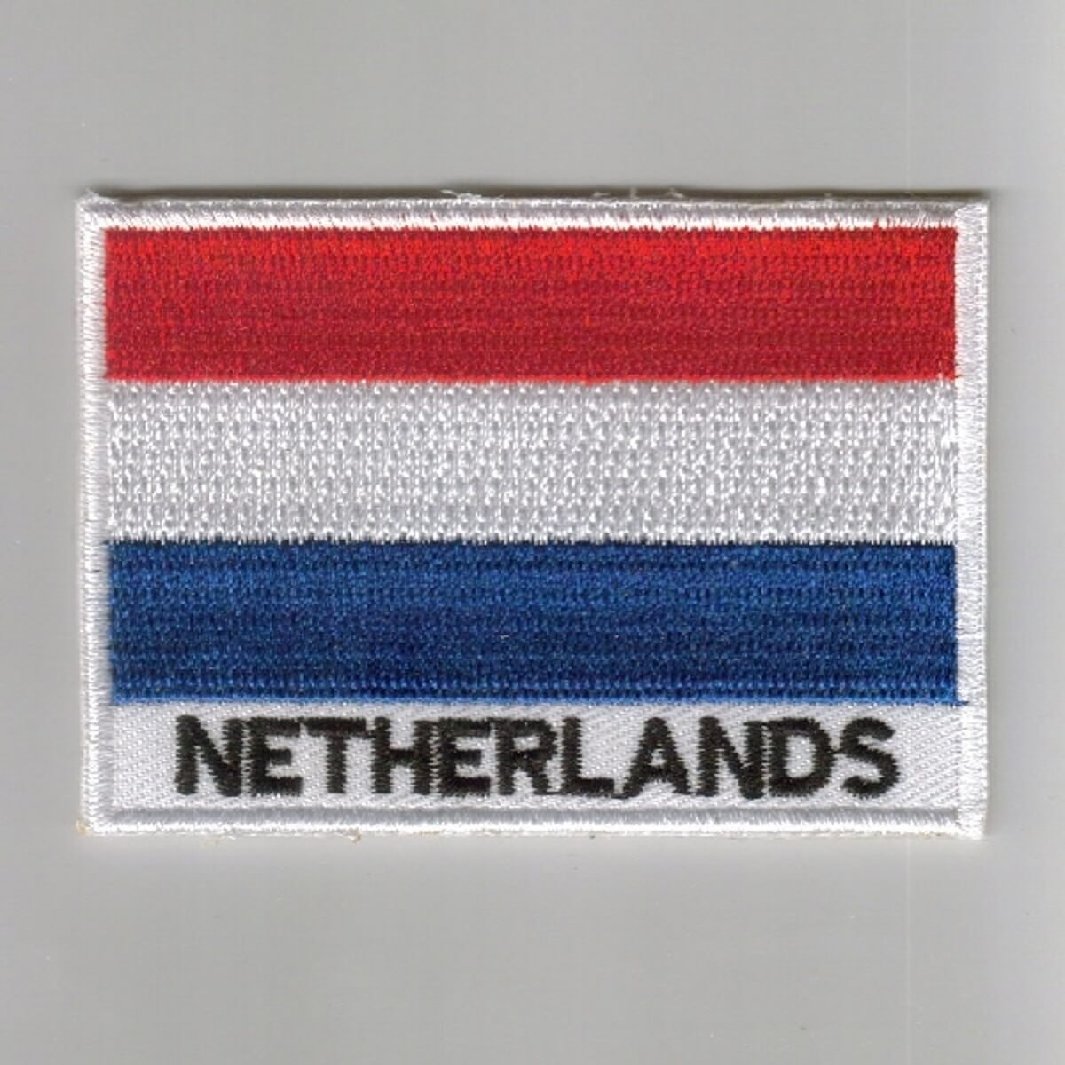 NEWFOUNDLAND Country Flag OVAL SHIELD Embroidered Iron on Patch Crest Badge WITH