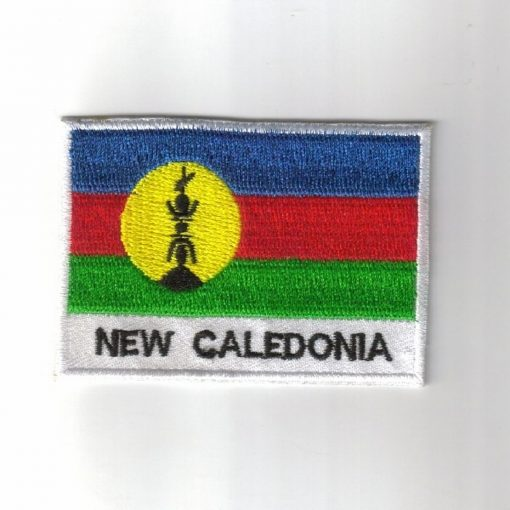 New-Caledonia embroidered patches - country flag New-Caledonia patches / iron on badges