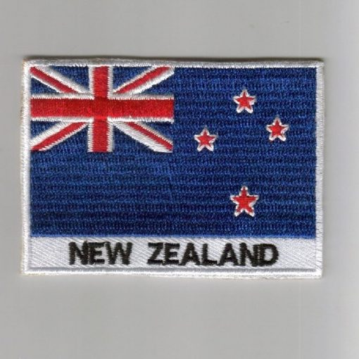 New-Zealand embroidered patches - country flag New-Zealand patches / iron on badges