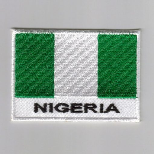Nigeria embroidered patches - country flag Nigeria patches / iron on badges