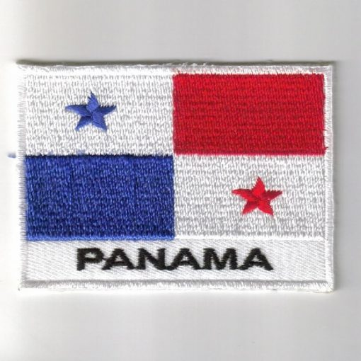 Panama embroidered patches - country flag Panama patches / iron on badges