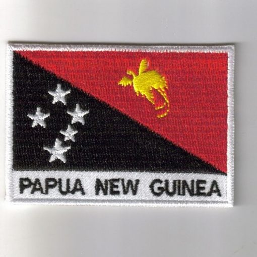 Papua-new-Guinea embroidered patches - country flag Papua-new-Guinea patches / iron on badges