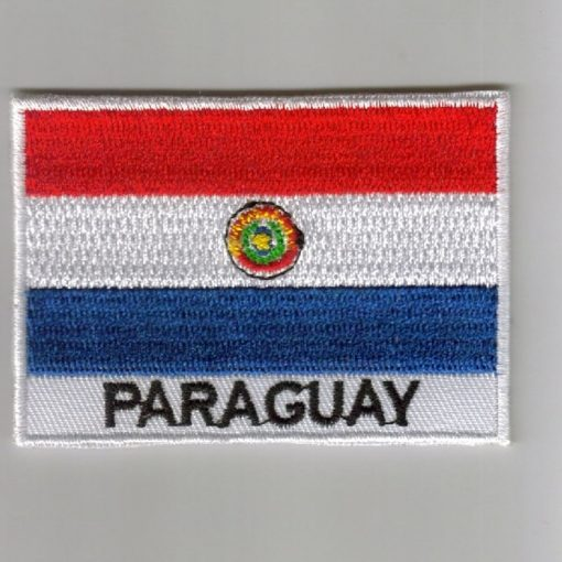 Paraguay embroidered patches - country flag Paraguay patches / iron on badges