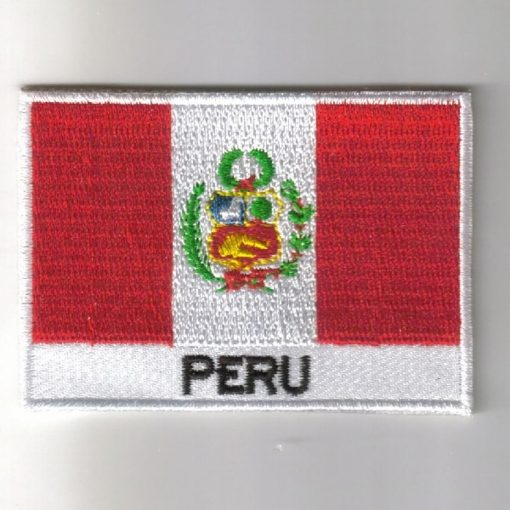 Peru embroidered patches - country flag Peru patches / iron on badges