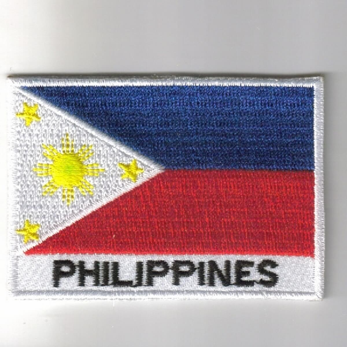 ba1b5b3126d Home   Kitchen Philippines Flag embroidered Iron-On Patch