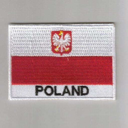 Poland embroidered patches - country flag Poland patches / iron on badges