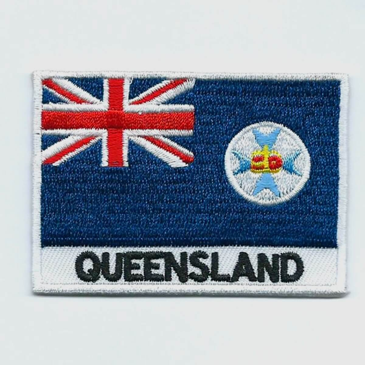 Queensland embroidered patches country flag