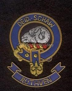 Ruthven clan crest badge - Deid Schaw