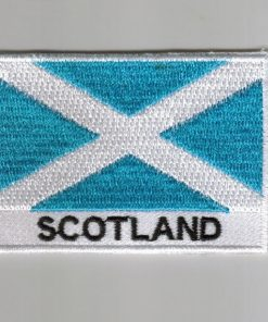 Scotland embroidered patches - country flag Scotland patches / iron on badges