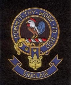 Sinclair clan crest badge - Commit Thy Work To God