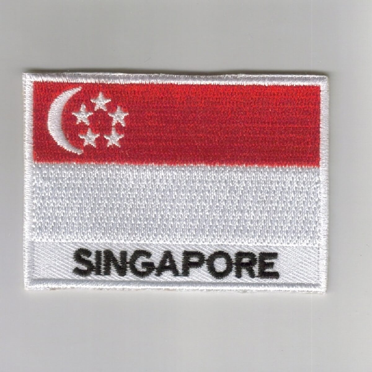 Singapore Embroidered Patches - Country Flag Singapore Patches / Iron On Badges