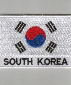 South-korea embroidered patches - country flag South-korea patches / iron on badges