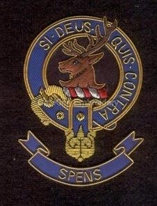 Spens clan crest badge - Si Deus Quis Contra