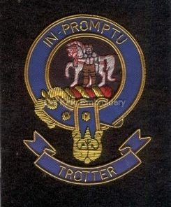 Trotter clan crest badge - In Promptu
