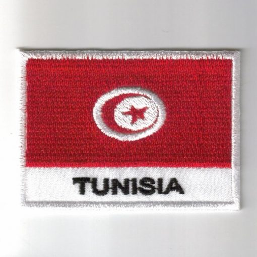 Tunisia embroidered patches - country flag Tunisia patches / iron on badges