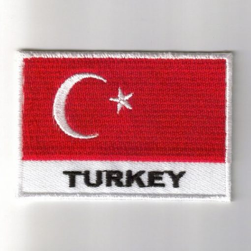 Turkey embroidered patches - country flag Turkey patches / iron on badges