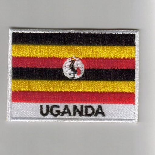 Uganda embroidered patches - country flag Uganda patches / iron on badges