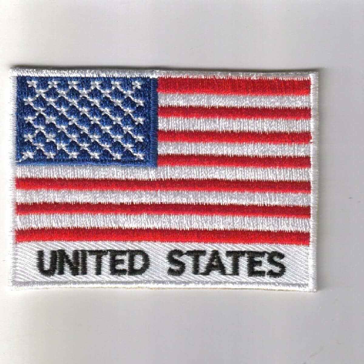 FLAG PATCH PATCHES USA UNITED STATES AMERICAN  IRON ON EMBROIDERED SMALL