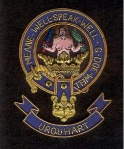 Urquhart clan crest badge - Meane Well Sperk Well G Doe Well