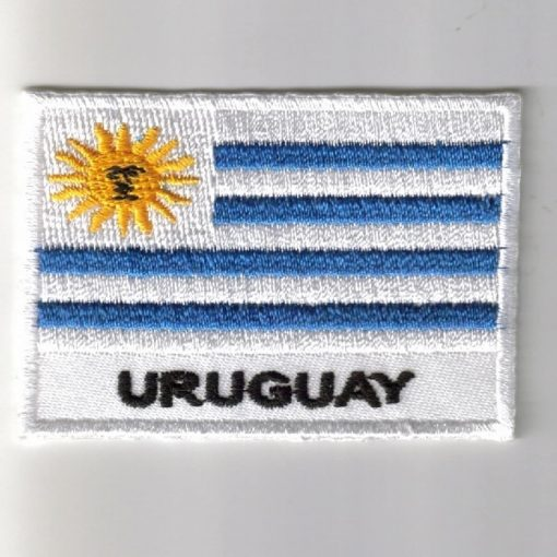 Uruguay embroidered patches - country flag Uruguay patches / iron on badges