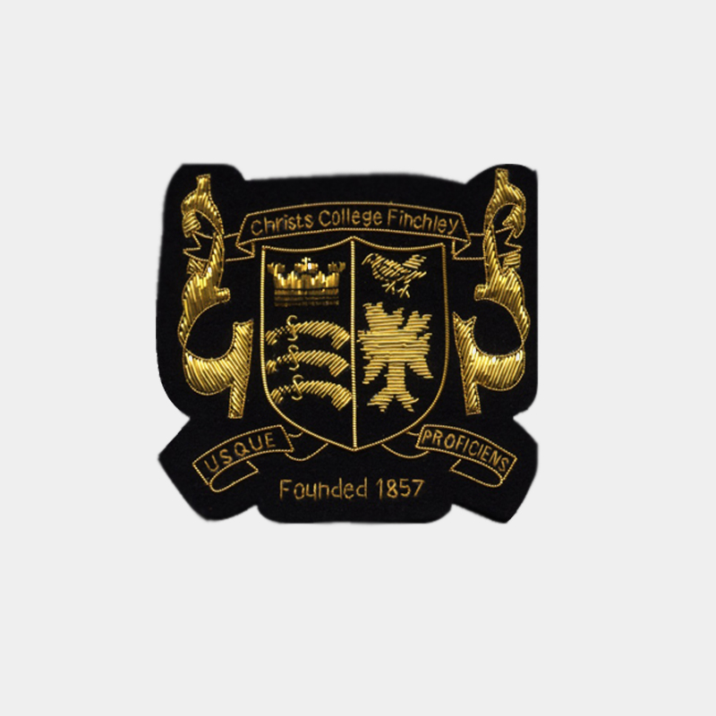Christs College Finchley Embroidered badge