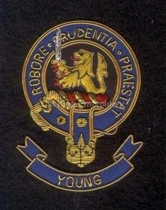 Young clan crest badge - Robore Prudentia Praestat