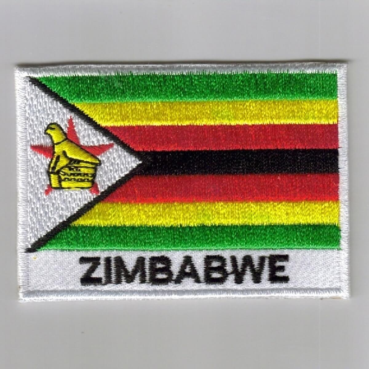 Zambia embroidered patches country flag