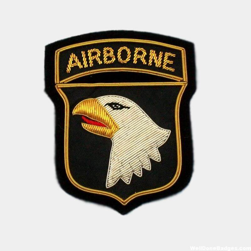 101st AIRBORNE DIVISION UNIFORM PATCHES – AIRBORNE Blazer Badges