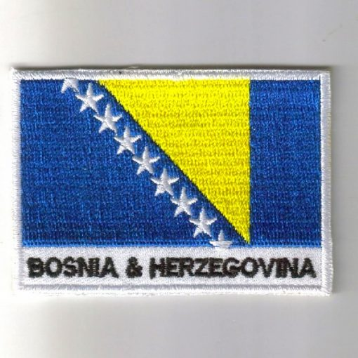 Bosnia embroidered patches - country flag Bosnia patches / iron on badges