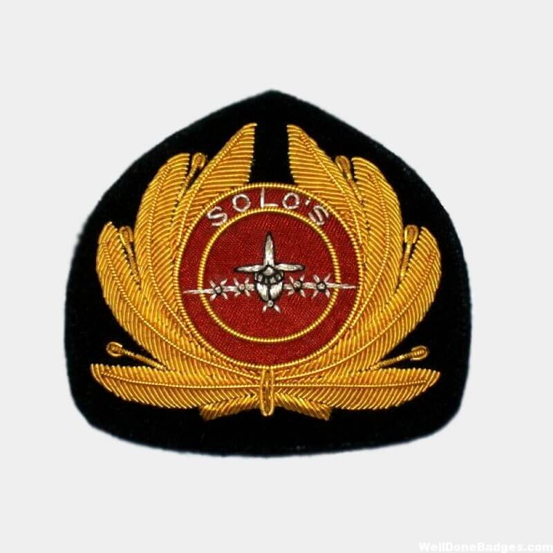 Solos bullion wire blazer badges
