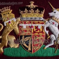 Hand embroidered Royal coat of arms