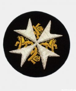 circle gold badge Embroidred badge