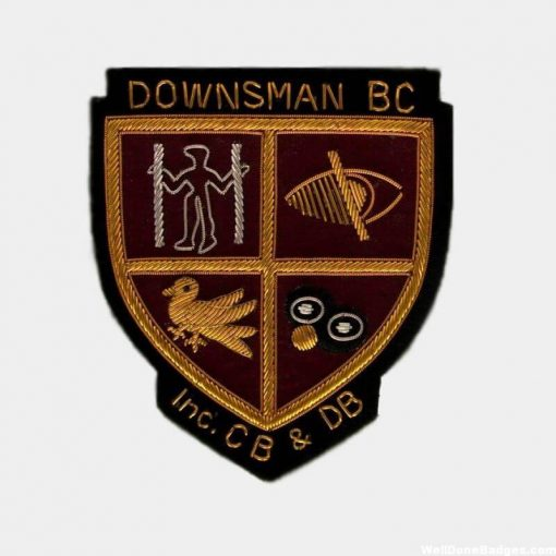 Bowling Club patches - Blazer Badges - Hand Embroidered Patches Custom Bullion Crests