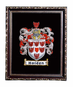 Hand embroidered Beautiful framed Family crest / Coat of arms