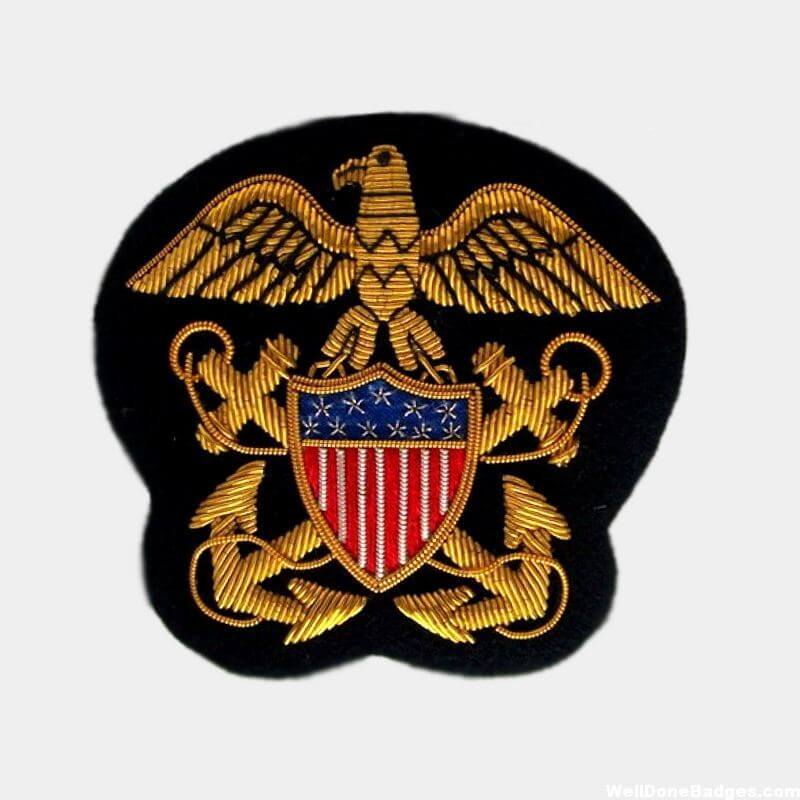 Navy Officer's crest Bullion Wire Blazer patches