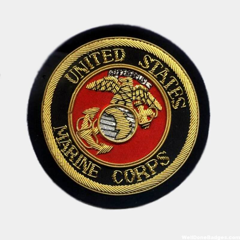 US Marine Corps Bullion Crests - Hand Military Embroidered Blazer Patches
