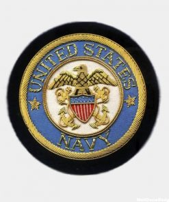 Miltary Embroidered Badges - US Navy Bullion Crests - Hand Embroidered Blazer Patches